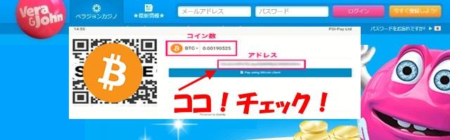 ecoPayzのビットコイン入金は毎回ビットコインアドレスを確認する