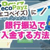 ecoPayz(エコペイズ)に銀行振込で入金する方法