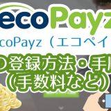 ecoPayz(エコペイズ)の登録方法・手順(手数料など)